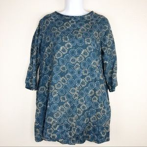 🌿 Cargo Floral Tunic with Pockets